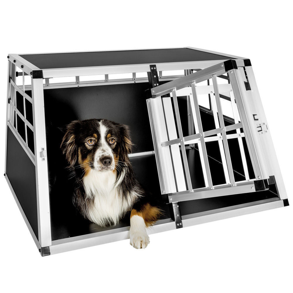 Trasportino Doppio gabbia in alluminio per cani da auto Small L 89 ...