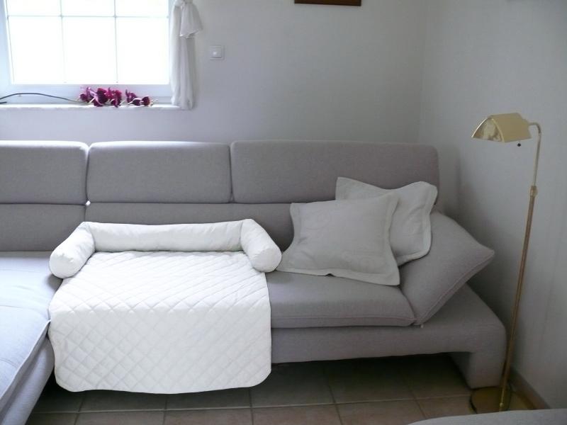 Cuccia coperta per divano bianco animalmarketonline