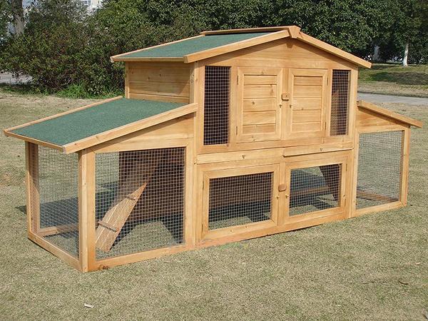 conigliera in legno xxl animalmarketonline