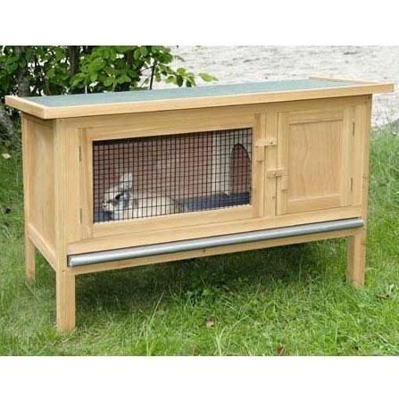 Conigliera in legno fred l 100cm animalmarketonline for Conigliera in legno