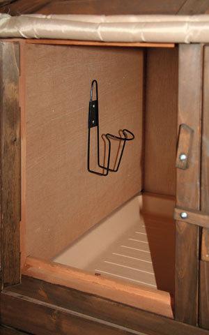 Conigliera in legno coibentata l 127cm animalmarketonline for Conigliera in legno