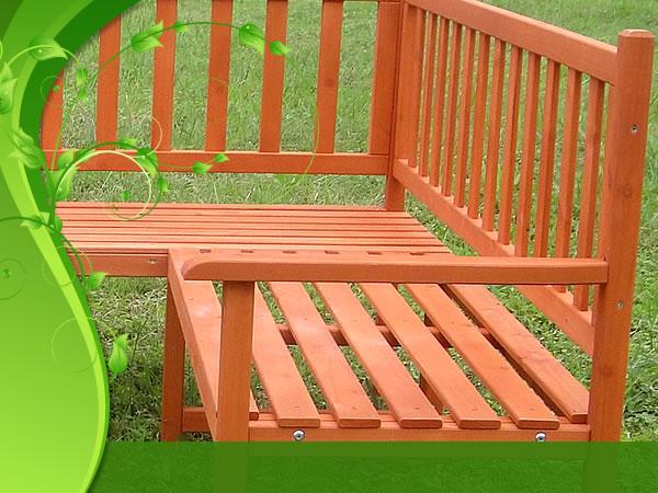 Elegante panca d 39 angolo x giardino balcone for Angolo giardino