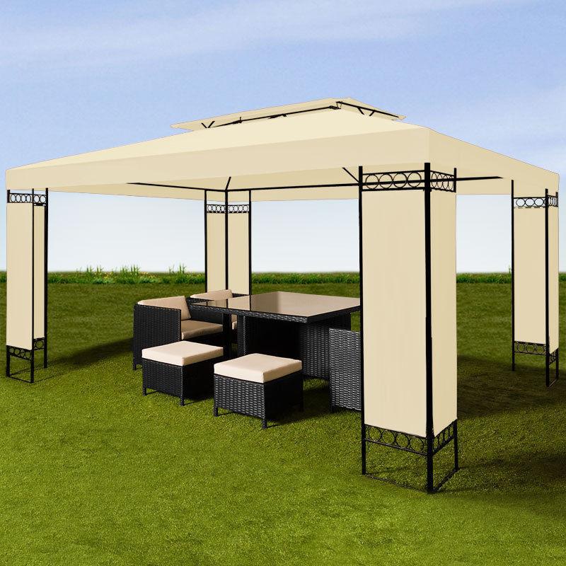 gazebo tendone aosta 3x4m crema animalmarketonline. Black Bedroom Furniture Sets. Home Design Ideas