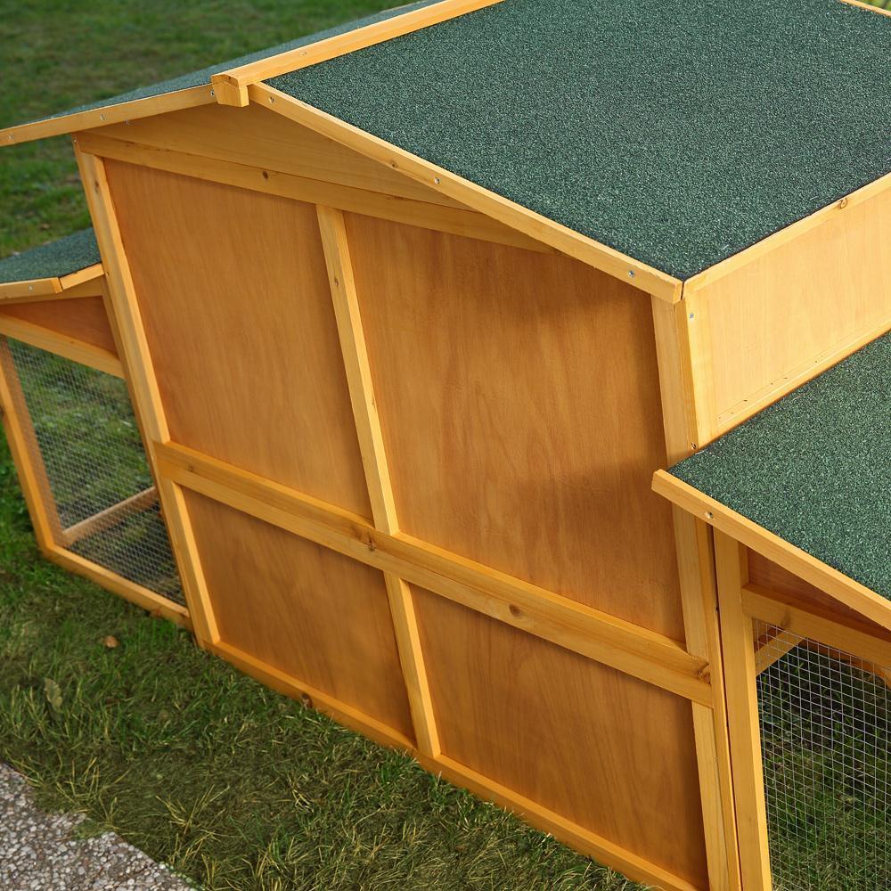 Pollaio conigliera in legno l 221 cm animalmarketonline for Conigliera in legno