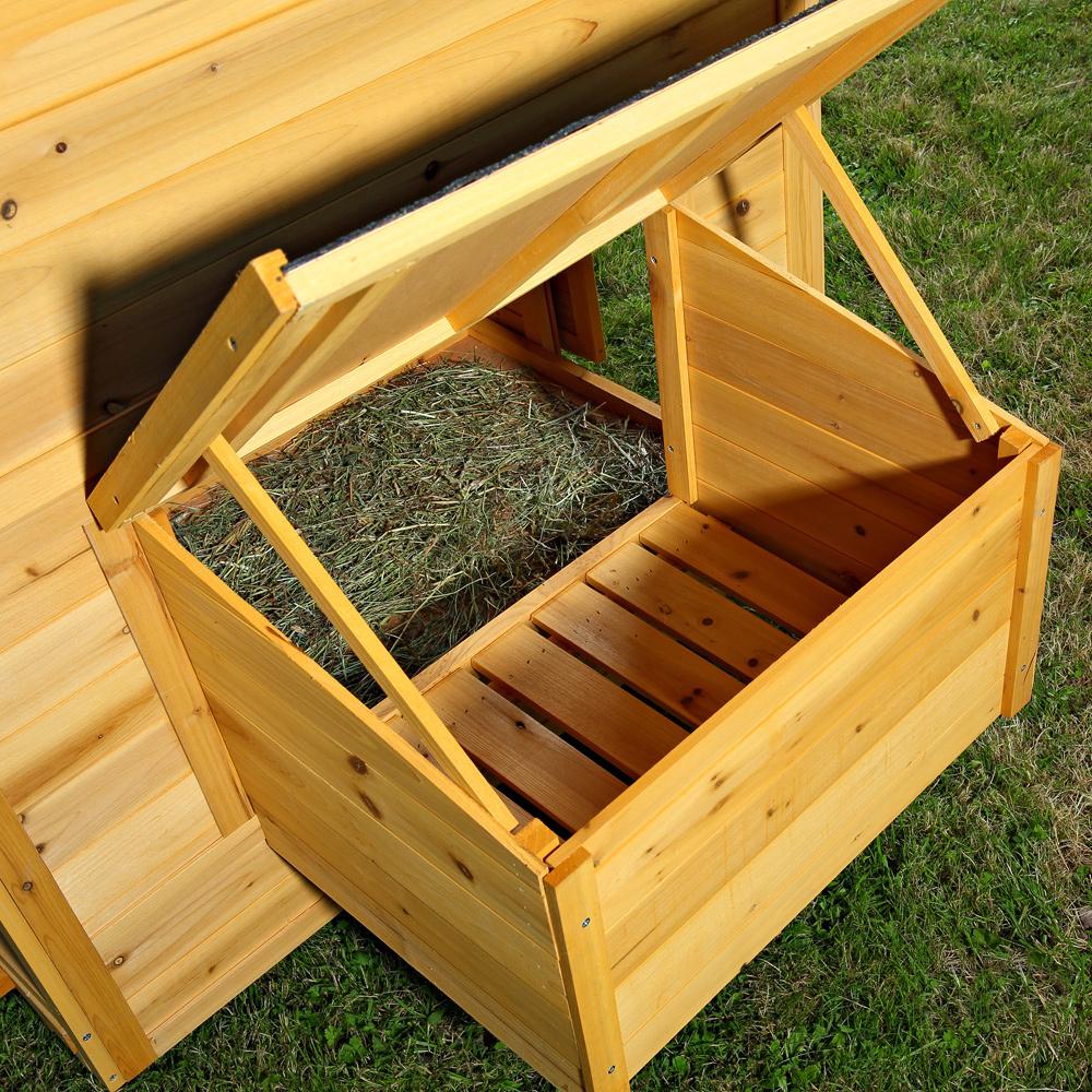 Pollaio conigliera in legno con ruote animalmarketonline for Conigliera in legno