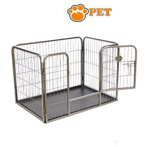 recinto per cani cuccioli con vaschetta l 125 cm cane