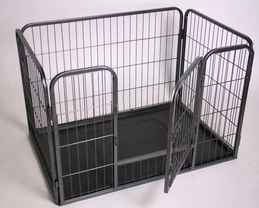 Recinto per cani cuccioli con vaschetta l 125 cm cane - Recinto mobile per cani ...