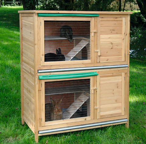 Conigliera in legno hutch xl animalmarketonline for Conigliera in legno