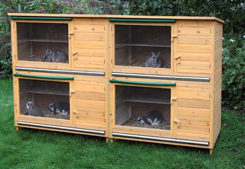 Conigliera in legno hutch xl animalmarketonline for Conigliera da interno
