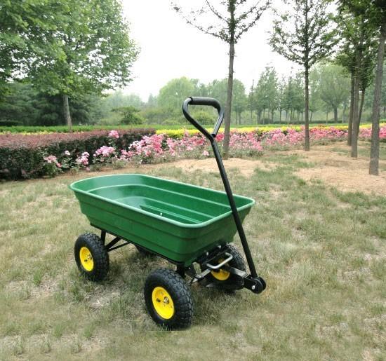 Xl carretto carrello rimorchio portatutto per giardino con ruote animalmarketonline - Carrello portavivande da giardino ...
