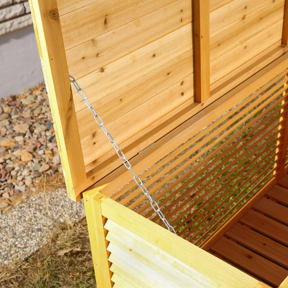 Baule cassapanca box in legno esterno giardino 170x58x50 for Cassapanca in legno da esterno