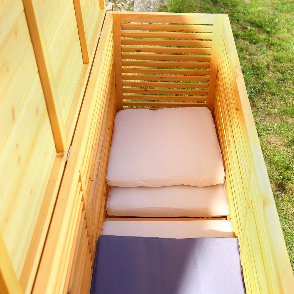 baule cassapanca box in legno esterno giardino 170x58x50