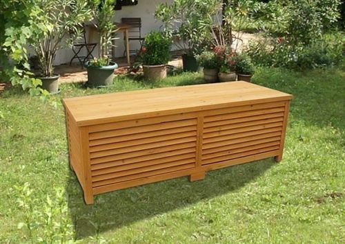 Baule cassapanca box in legno esterno giardino 170x58x50 for Cassapanca fai da te