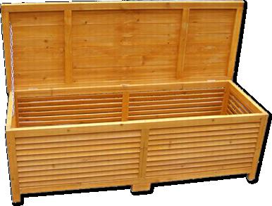 Baule cassapanca box in legno esterno giardino 170x58x50 animalmarketonline - Cassapanca plastica da esterno ...