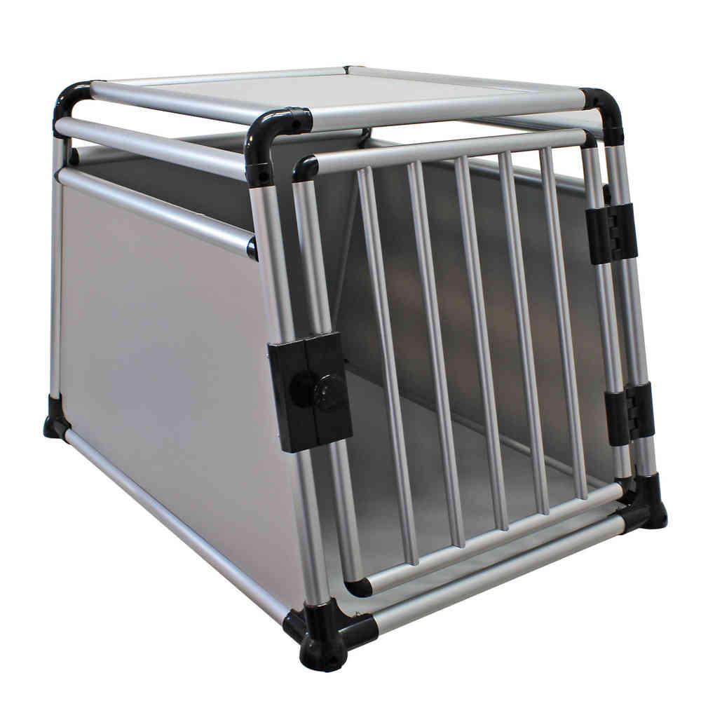 Trasportino Gabbia In Alluminio Per Cani Da Auto 91x64x64cm
