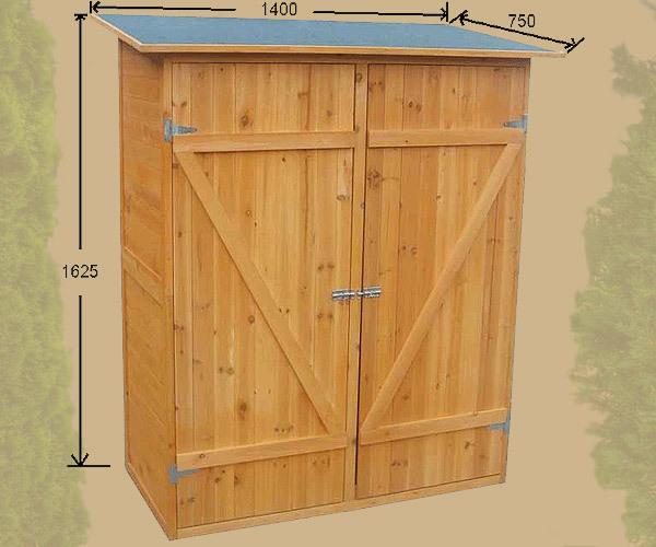 Armadio in legno da esterno 162 x 140 x 75 cm resistente - Armadio in giardino ...