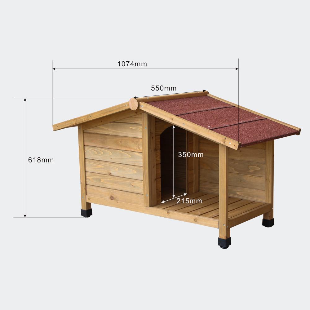 Cuccia per cani con veranda legno for Cuccia per cani eurobrico