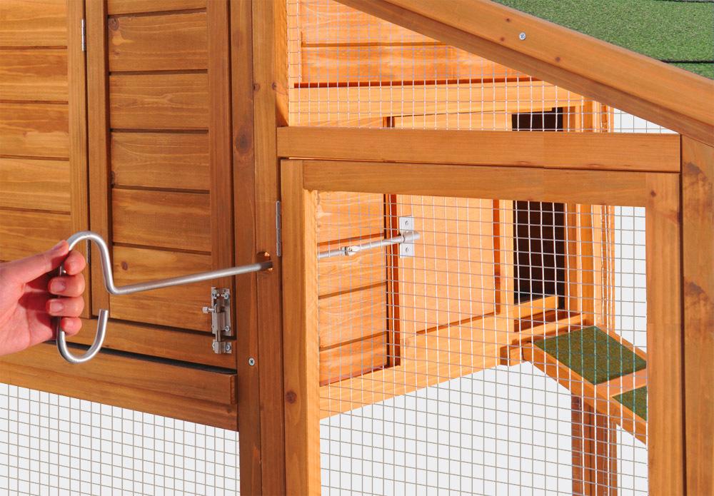 Adelaide ii pollaio conigliera abete giardino pollo for Conigliera da interno