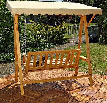 Dondolo in legno altalena animalmarketonline for Altalena a dondolo