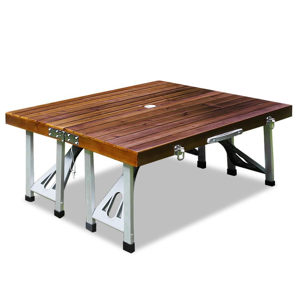 Tavolo con sedie pieghevole legno e alluminio - Tavolo pieghevole con sedie ...