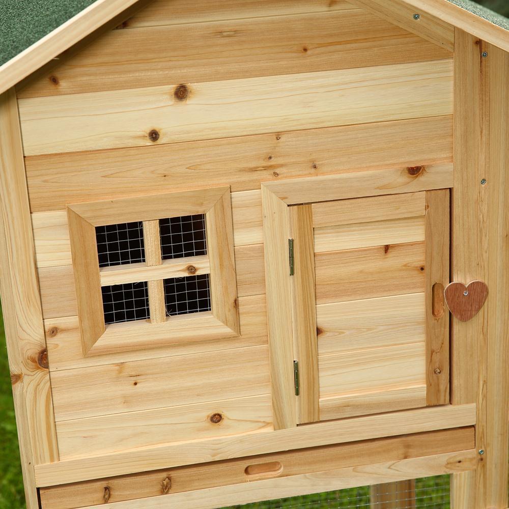 Conigliera in legno 145 x 65 x 100 cm animalmarketonline for Conigliera in legno
