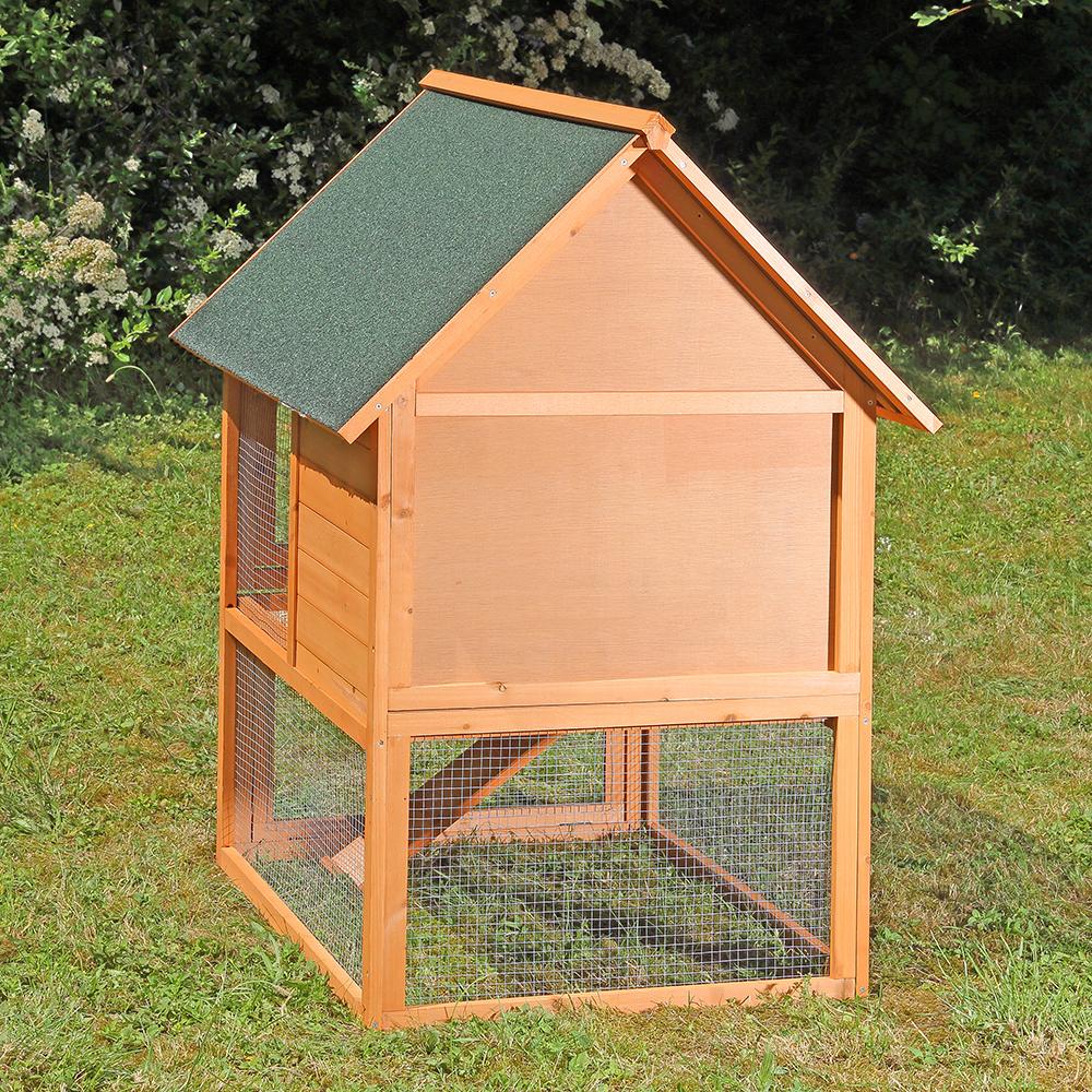 Conigliera pollaio in legno 80x96x121cm animalmarketonline for Conigliera in legno