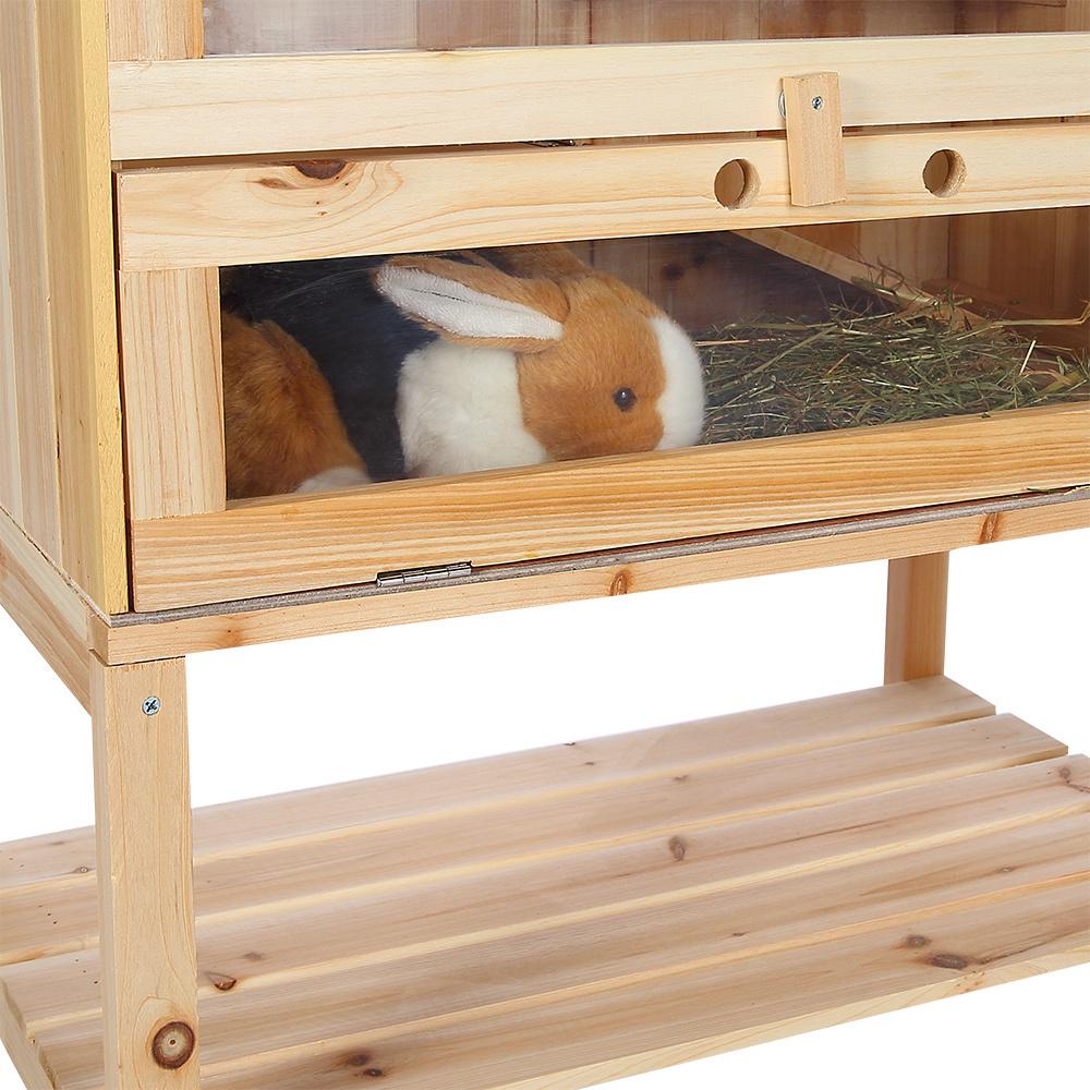 Conigliera in legno 4 piani animalmarketonline for Conigliera in legno